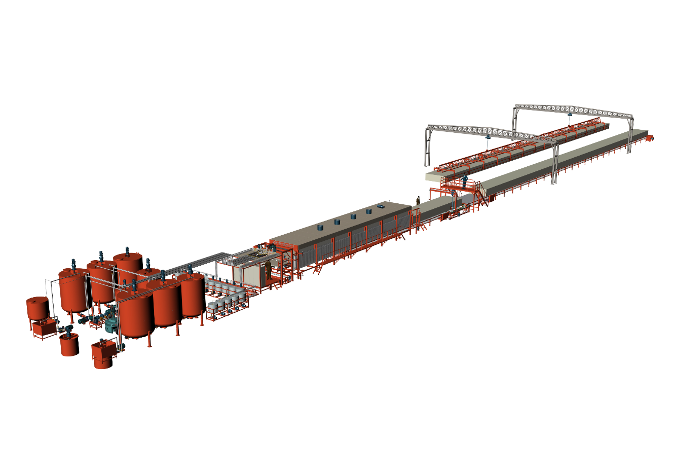 Red Color Of Horizontal Automatic Continously Foaming Machine