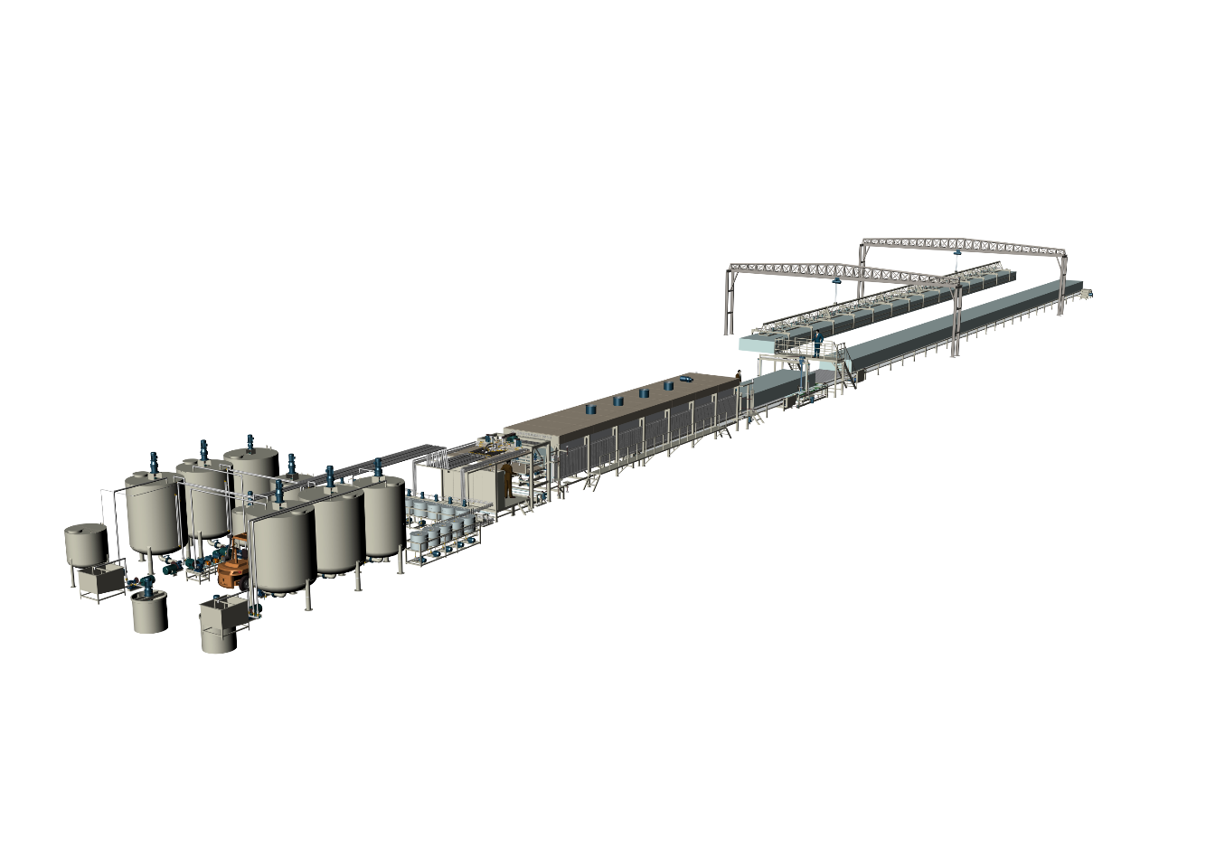 Grey Color  Of Horizontal Automatic Continously Foaming Machine