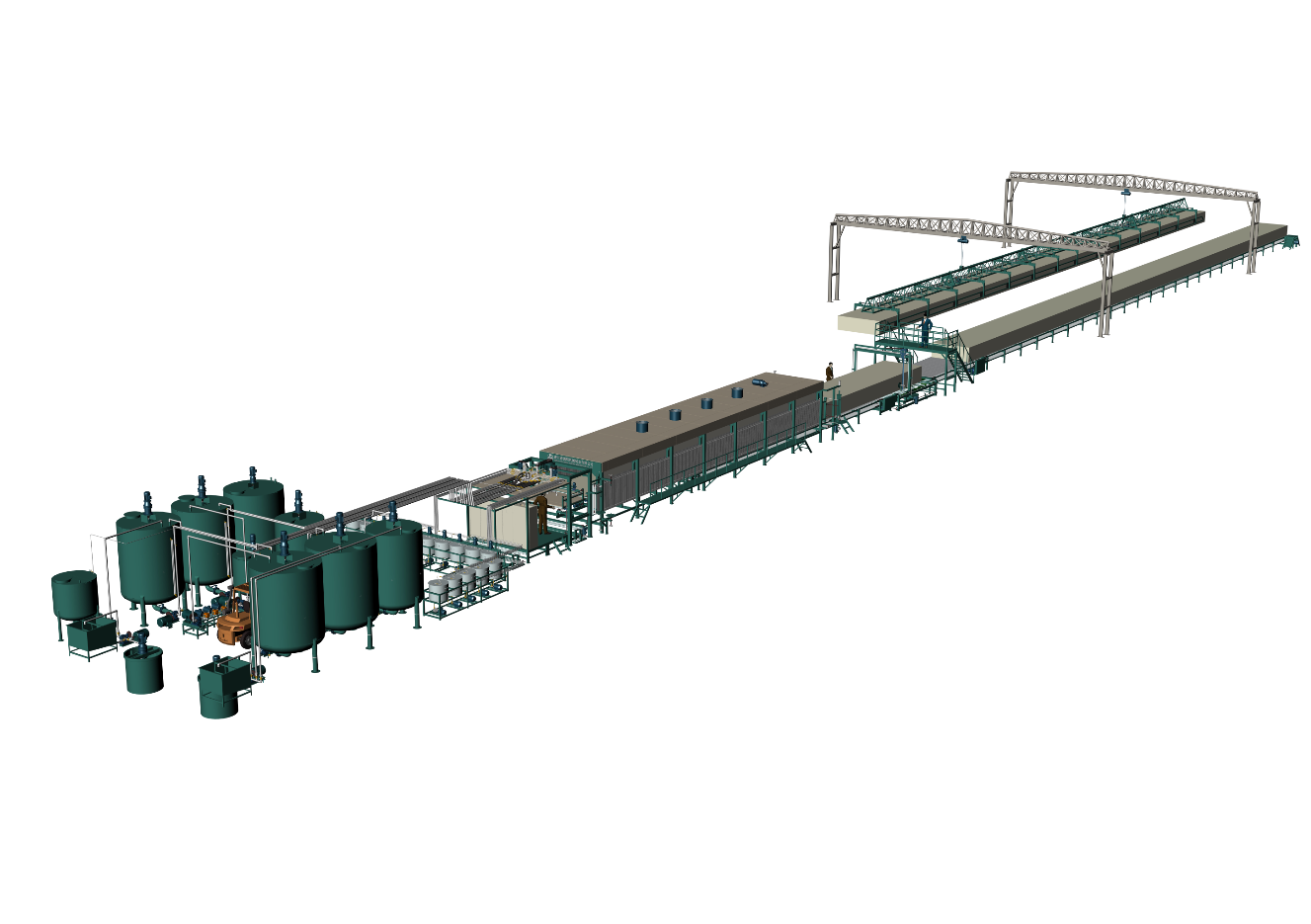 Dark Green Color Of Horizontal Automatic Continously Foaming Machine